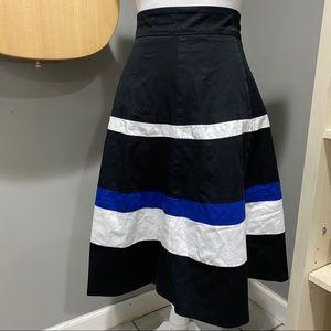Striped blue, black and white Skirt